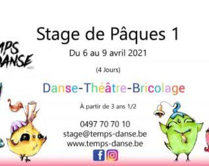 stages Danse et Théâtre Pâques 1